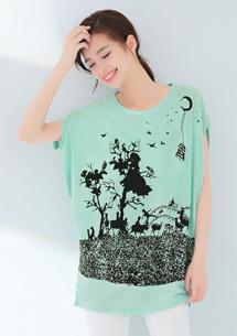 童話森林印花長上衣