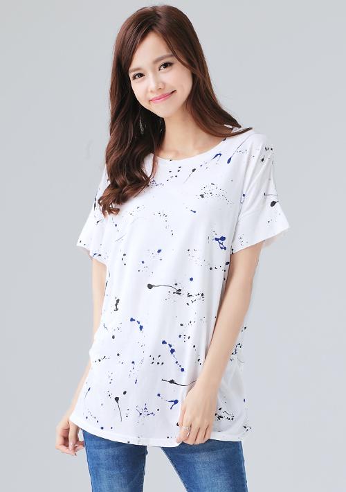 恣意潑漆長版上衣白-期間限定-衣芙女裝