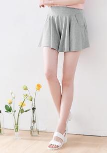 清爽四面彈口袋褲裙