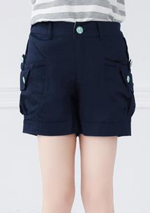 粉漾休閒造型口袋短褲