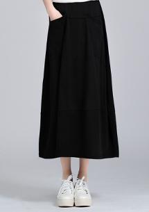 柔感彈性口袋長裙