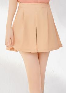 質感魅力前開叉短褲裙