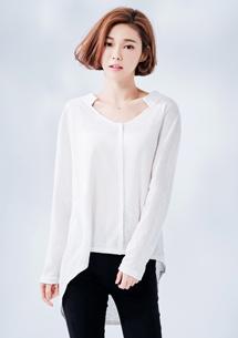 韓系風格竹節棉上衣