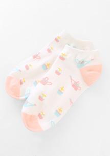 粉彩手繪塗鴉短襪