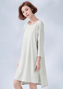韓版隨性五分袖上衣
