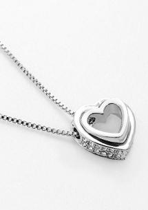 甜蜜雙心水鑽項鍊