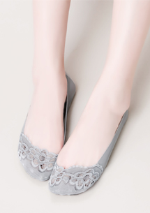 輕甜蕾絲無痕隱形襪