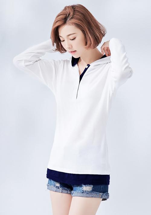 韓版時尚連帽長版上衣