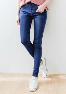 單寧質感刷色牛仔褲