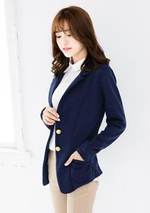 輕熟質感金釦西裝外套
