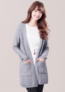溫暖簡約針織開襟外套