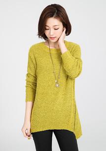 新意側拉鏈針織毛衣