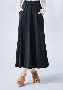 簡單素雅針織長裙