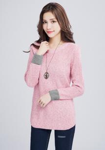 暖暖冬氛混色針織毛衣