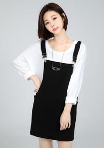 【限三天$199】俏皮甜心雙口袋吊帶裙