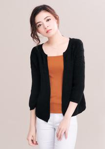 立體織紋毛衣外套