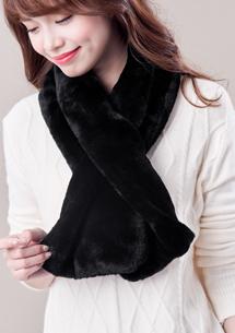 韓版絨毛脖圍巾