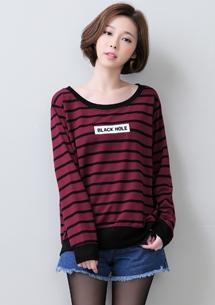 韓版休閒條紋上衣