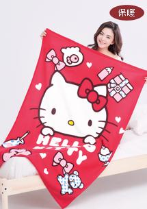 Kitty好感棉柔刷毛毯