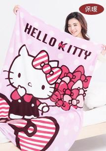 Kitty經典舒柔法蘭絨毯