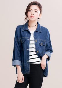 韓版經典寬鬆牛仔外套