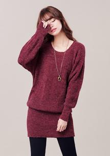 微甜嫵媚針織包臀洋裝