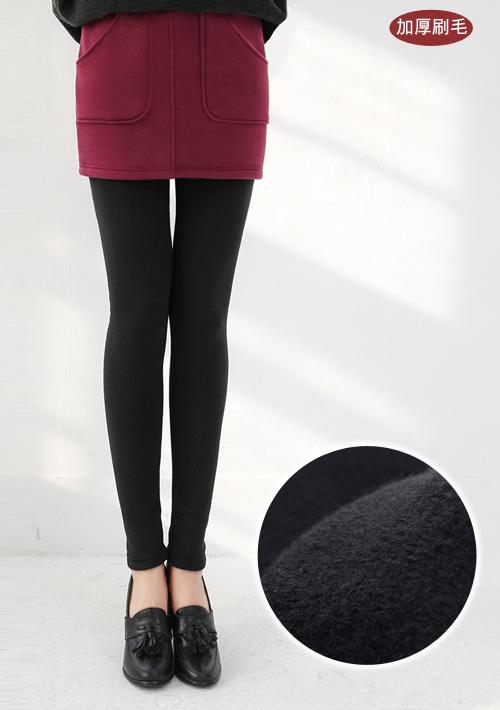 溫暖加厚刷毛短裙內搭褲