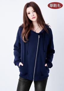 韓系風格保暖厚刷毛外套