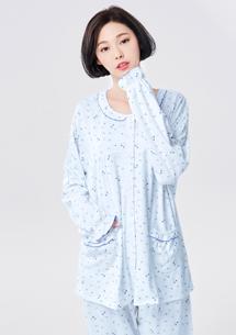 兩件式柔棉質感居家睡衣