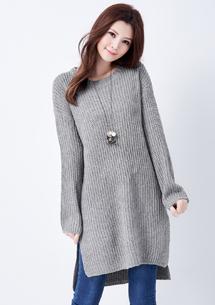 韓妞品味長版針織衫