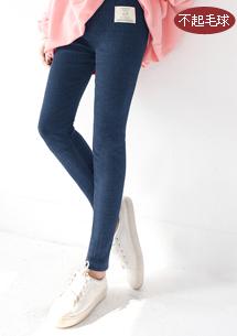 細腿坑條布標棉質內搭褲