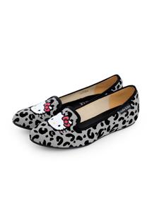 Kitty豹紋內增高娃娃鞋