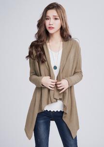 柔感秋氛針織開襟外套