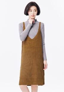 森林系甜美針織背心裙