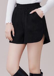 俐落簡約麂皮短褲