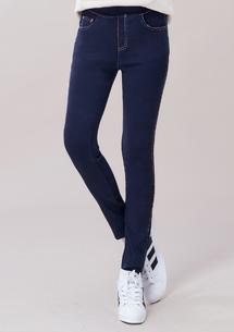 繽紛色彩顯瘦彈性牛仔褲