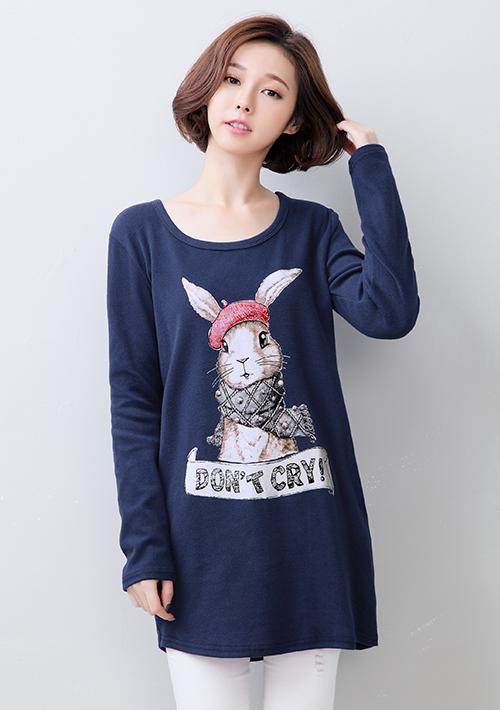 暖冬厚磅磨毛兔子上衣