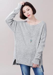 輕柔甜氛混色針織毛衣