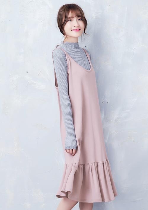 微甜質感厚棉魚尾洋裝