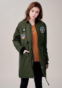 美式風格鋪棉軍裝外套