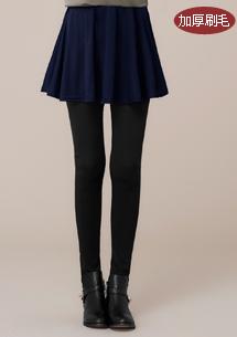 保暖加厚刷毛圓裙內搭褲