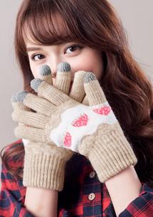 甜美柔暖觸控手套