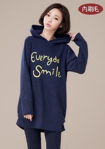 清甜微笑內刷毛上衣