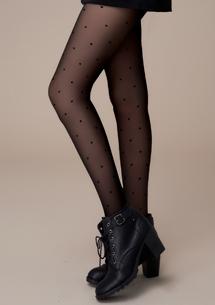 視覺美腿點點透膚絲襪