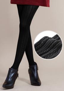 激瘦柔彈立體織紋褲襪