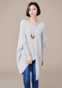 極暖絨毛剪裁針織上衣