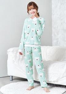 兩件式珊瑚絨居家睡衣