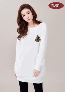熱賣韓版徽章內刷毛上衣