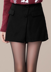 韓風氣質造型毛呢褲裙