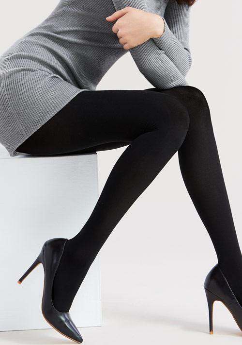 舒適柔彈天鵝絨褲襪